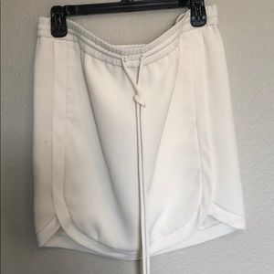 J.Crew White Drawstring Skirt